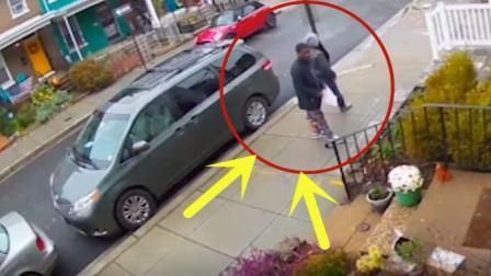 """黑人小伙走在邻居家门口突然停下了脚步, 监控拍下""""荒唐""""画面"""