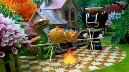 玩具家族  黑猫警长解救小黄鸭伶盗龙