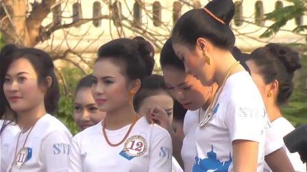 老挝人选美! 中国游客到老挝游玩, 实拍老挝姑娘颜值