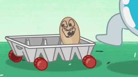 脑洞幽默动画, 好心帮助鸡蛋过断桥 结局悲催了!