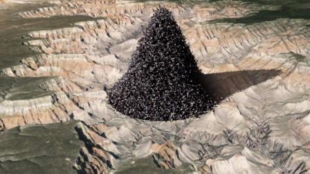 把地球上74亿人全部堆在一起, 高度能有多少? 专家: 也就 700米左右!