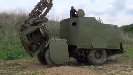 军队原来是这样挖战壕的, 效率真是太高了!
