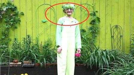 美国老太痴迷绿色20年, 从头到脚都是绿色, 网友 受啥刺激了?