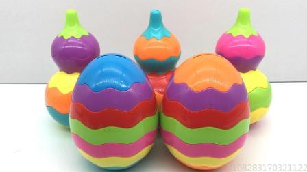 玩具SHOW奇趣蛋出奇蛋 小黄人拆彩虹奇趣蛋玩具蛋视频