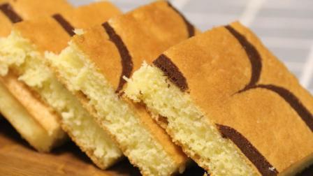 千叶纹蛋糕的做法, 一个简单小技巧, 教您做出好看的花纹蛋糕