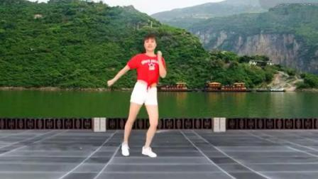 广场舞《九妹》纯音乐版, 自由弹跳32步好听好看附动作教学