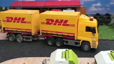 挖掘机儿童玩具挖掘机超长的黄色货车