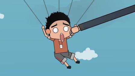 吃鸡搞笑动画: 菜鸟约架外挂选手, 岂料刚跳伞就被击杀!