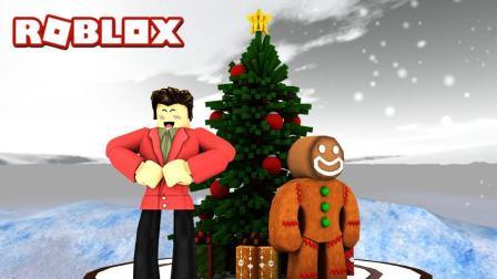 豪宝宝Roblox大冒险 第一季 模拟城市之提前装修我的圣诞小屋为平安夜做准备
