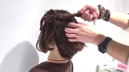最适合短发女生的扎发发型, 简单又大方!