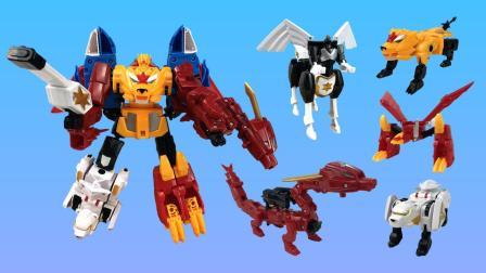 神兽金刚3之神兽星甲王 五合体变形机器人玩具