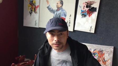 湖北荆州一牛人用菜刀作画 果然是高手在民间