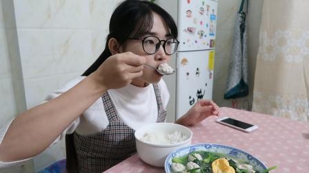 打工妹: 周末一个人的晚饭, 肉丸爽口q弹带劲, 女生爱吃