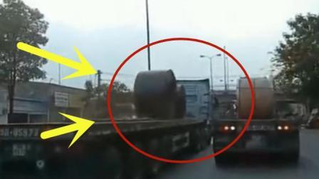 都是大油罐惹的祸, 这下大货车成了整条路的焦点啊