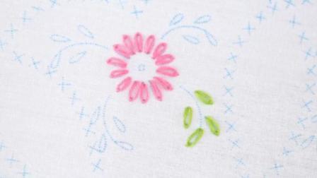 超简单的小清新刺绣花朵图案教程