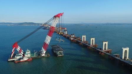 真正的超级工程, 3600吨起吊船吊装大桥主梁, 厉害了我的国