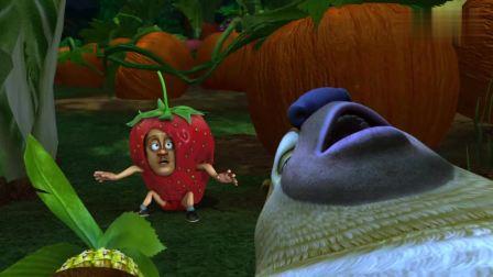 """光头强伪装成""""巨型草莓"""", 没想到被熊二这个贪吃的家伙发现了"""