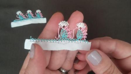 手工缝纫系列, 水仙花锁边的针法, 简单又漂亮(步骤2-2)
