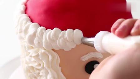 风味人间: 国外达人制作的圣诞老人蛋糕, 这也太精致了吧, 超喜欢