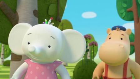 缇娜托尼:毛毛虫偷吃水果蔬菜,小兔子现在很生气!