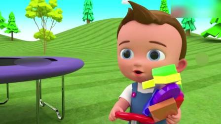 益智动画: 萌宝宝在树林玩游戏, 学习各种形状名称和颜色