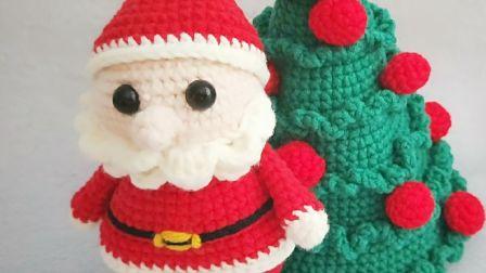 暖阳绒绒第20集钩针圣诞老人的编织大全图解