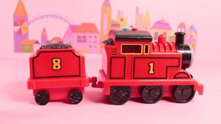 超好玩有趣的乔治托马斯火车玩具, 趣味认知红色托马斯火车