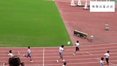 日本小学生百米成绩12秒! 甩开亚军15米, 镜头里只