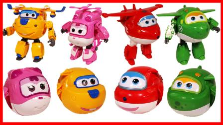 北美玩具 第一季 超级飞侠Super Wings 扭蛋变形玩具,机器人变飞机