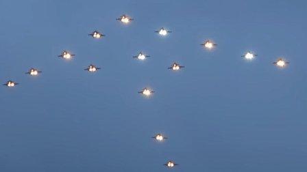 一年一度圣诞节, 瑞典又把鹰狮战斗机当成蜡烛, 在空中点亮圣诞树