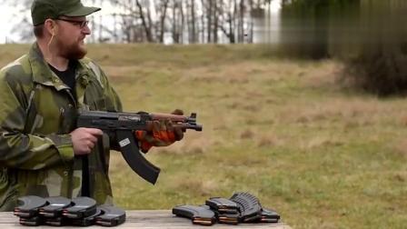 国外牛人测试AK突击步枪极限射击, 不到3分钟竟直