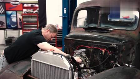 废旧发动机, 牛人拆掉翻新重新安装, 启动的瞬间