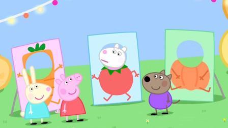 小猪佩奇和朋友们在土豆城市里玩 简笔画故事