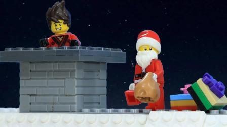 乐高定格动画: 乐高忍者建立圣诞礼物恶作剧