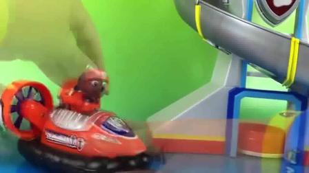 路玛开着炫酷的气垫船工程车亲子益智玩具视频分享