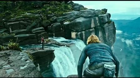 《极盗者》电影片段, 极限运动攀岩悬崖跳瀑布
