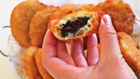 黑芝麻空心小糖饼, 香甜软糯、外皮酥脆, 做法简单又特别的好吃