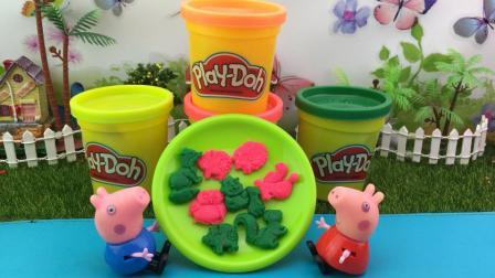小猪佩奇的玩具世界 2017 小猪佩奇手工制作彩泥动物饼干