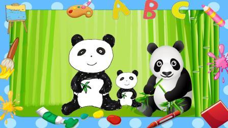 玩具学堂 2018 超级喜欢吃竹子的国宝大熊猫宝宝 儿童益智简笔画