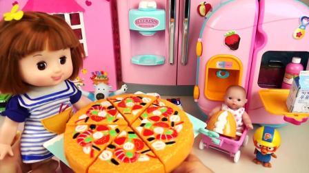 厨房烹饪玩具, 婴儿娃娃学习做披萨饼真好玩, 儿童玩具, 追风亲子游戏