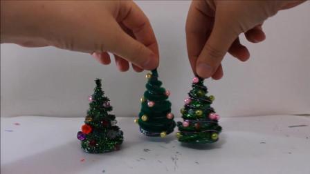手工玩具: 制作一棵迷你的绿色圣诞树