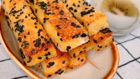 小饭约食: 咔嚓香脆烤面包条, 吐司新吃法, 瞬间变成高大上的糕点
