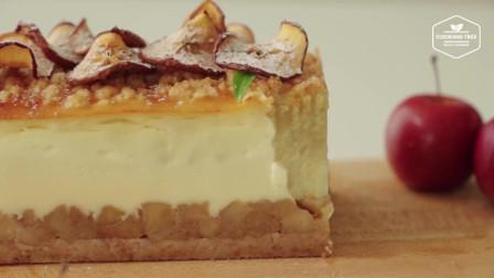 苹果芝士蛋糕的做法 Apple Crumble Cheesecake