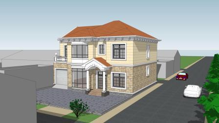 经典二层欧式别墅, 设计因地制宜, 难掩华贵气质