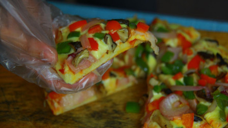 冬天就想吃热乎乎的, 8寸披萨的最简单做法, 料足味美, 色香俱全, 好吃到停不下来!