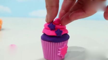 小马宝莉创新制作彩泥5款不同的杯子蛋糕diy
