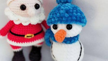 暖阳绒绒第21集圣诞雪人的编织编织实例