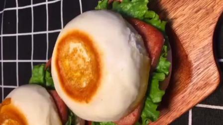 用馒头制作的中式汉堡, 简单易学, 好看又营养, 不用再到外面买了