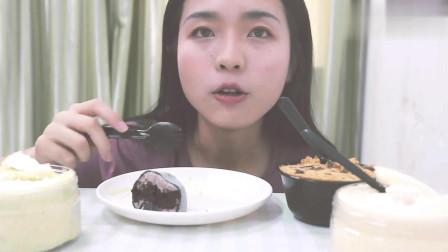 吃播肥肥: 吃抹茶雪媚娘+海盐奥利奥雪媚娘, 看着都超有食欲!