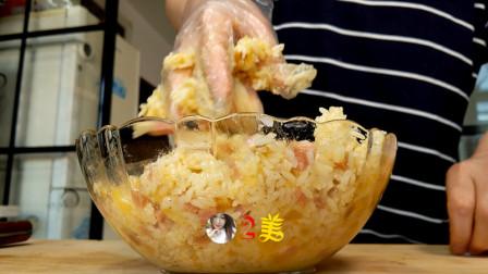 2碗剩米饭, 早上起来抓几下, 放入电饼铛, 孩子起床都抢着吃